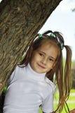 Happy girl in park royalty free stock photos