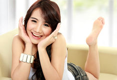 Beauty happy girl smiling Royalty Free Stock Photos