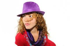 Beauty with hat Royalty Free Stock Photos