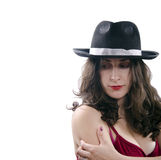 Beauty in hat Stock Photos