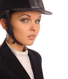 Beauty haughty strict jockey Royalty Free Stock Photo