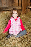 Beauty in Hay Stock Images