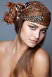 Beauty with a head scarf Royalty Free Stock Photos