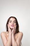 Beauty head shot of woman Stock Photo