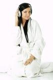 Beauty with headphones Stock Photo