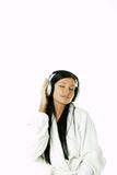 Beauty with headphones Stock Photography