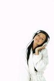 Beauty with headphones Royalty Free Stock Photo