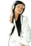Beauty with headphones Royalty Free Stock Photo