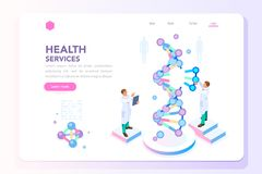 Beauty and Health Laboratory Banner stock illustration
