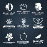 Beauty and Health Logo, Icons and Design Elements Royalty Free Stock Images
