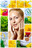 Beauty and health. Skincare, clear, wellness Royalty Free Stock Images