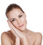 Beauty and health of young woman Stock Image