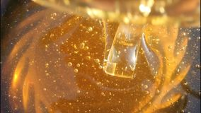 Beauty healthy food - honey stock video