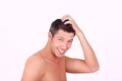 Beauty healthy man stock photo