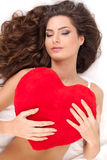 Beauty with heart. Stock Photo