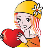 Beauty and a heart shape Stock Photos