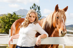 Beauty and her beast Stock Images