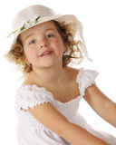 Beauty in Her Easter Bonnet Stock Photo
