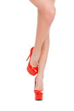 Beauty in high heeled shoes. Royalty Free Stock Photos