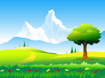 Beauty of Himalayas peaks & Landscape. Is a  illustration Royalty Free Stock Photos