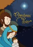 Beauty Holy Family Landscape, Vector Illustration royalty free stock photography