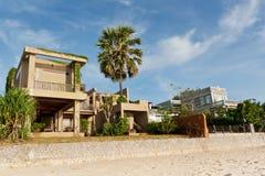 Hotel resort near beach Royalty Free Stock Photo