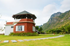 Beauty house at mountain Royalty Free Stock Photo