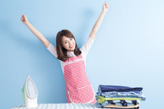 Beauty  housewife feel excited Royalty Free Stock Image
