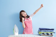 Beauty  housewife feel excited Stock Photography