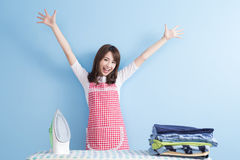 Beauty  housewife feel excited Stock Images