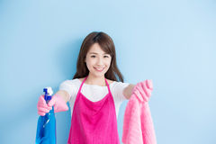 Beauty housewife smile to you Stock Photography