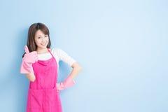 Beauty housewife thumb up Stock Image