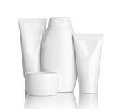 Beauty hygiene container. Close up of  beauty hygiene container on white background with clipping path Stock Image