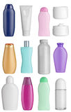 Beauty hygiene container. Collection of  various beauty hygiene containers on white background. each one is shot separately Royalty Free Stock Image