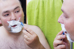 Beauty, hygiene, shaving, grooming and people concept Royalty Free Stock Image