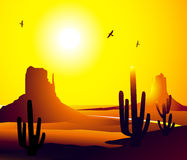 Monument Valley Arizona Vector royalty free illustration