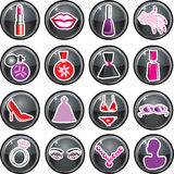 Beauty Icon Buttons Stock Image