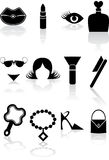Beauty Icon Set: Black Series Royalty Free Stock Images