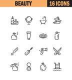 Beauty icon set. Royalty Free Stock Image