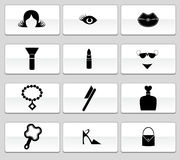 Beauty Icon Set: Web Button Series Royalty Free Stock Images
