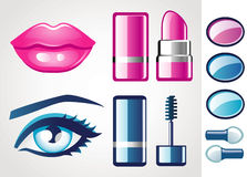 Beauty icons Stock Image