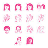Beauty Icons Set Stock Image