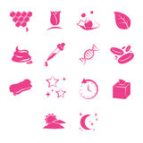 Beauty Icons Set Royalty Free Stock Photos