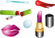 Beauty icons or symbols royalty free illustration