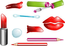 Beauty icons or symbols stock illustration