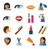 Beauty icons Royalty Free Stock Photos