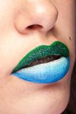 Beauty image of lips with artistic make up Stock Photo