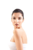 Beauty Image Of A Woman Looking Over Her Shoulder. Stock Image
