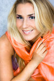 Beauty In Silk Scarf Stock Photography