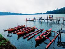 The beauty of the Indonesian archipelago. Lake in bali island stock photography